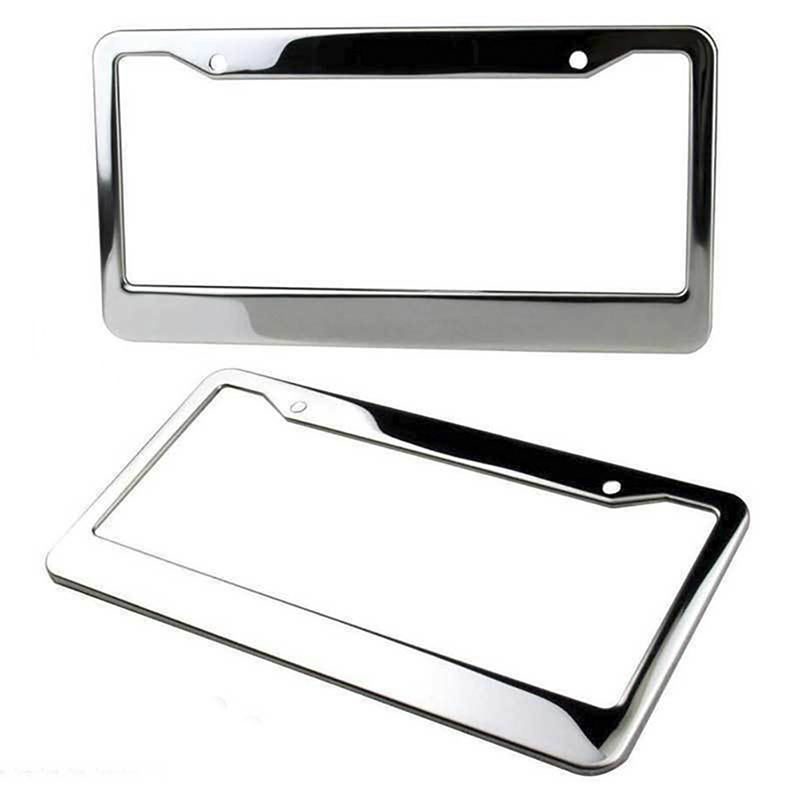 2X CX-9 MAZDA Stainless Steel Metal Black License Plate Frame Rust Free