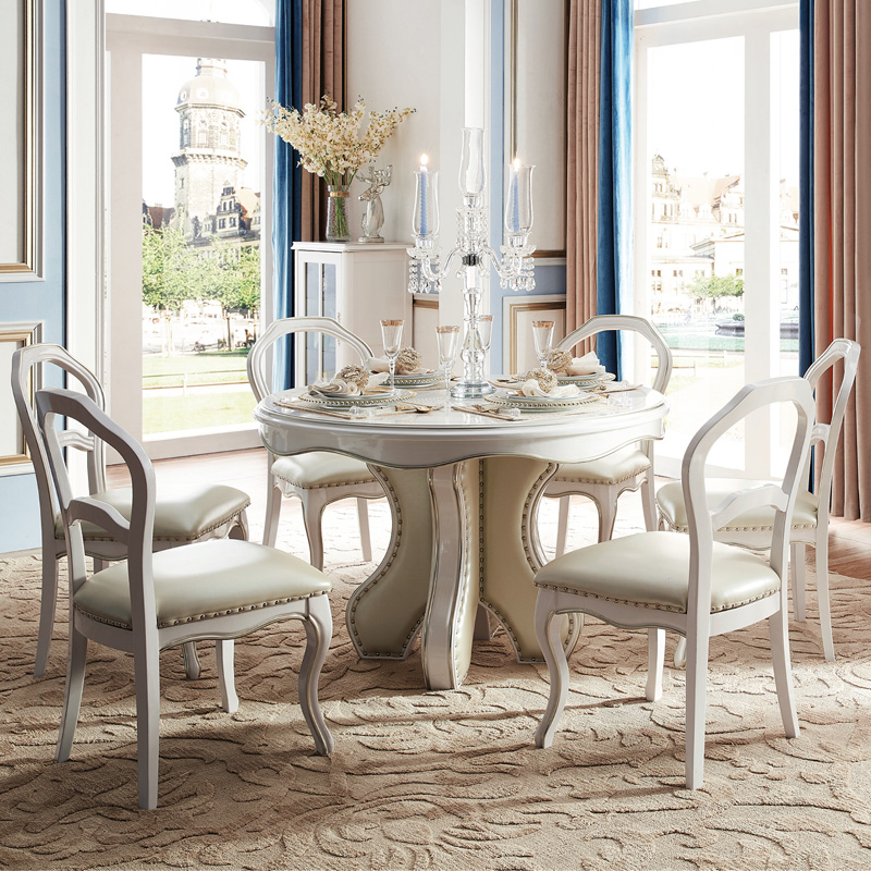 European Style Dining Table , Round Table With Dining