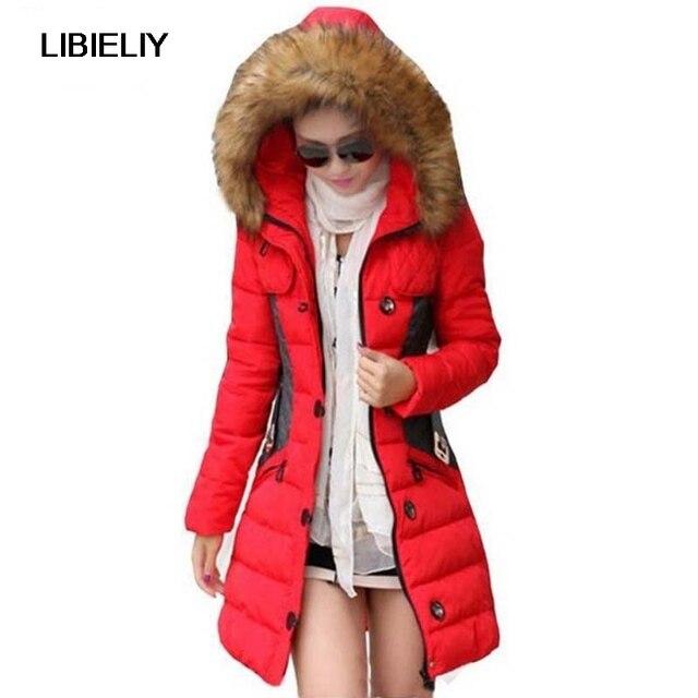 Aliexpress.com : Buy Nice Winter Jacket Women Parka Fur Collar ...