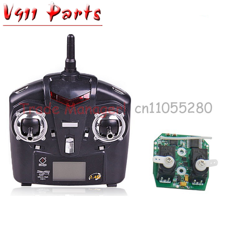 Free shipping the control and receiver board Controller for V911 RC Helicopter , v911 Accessories PCB box receiver card free shipping v912 the remote controller of v912 v911 v911 1 rc helicopter wl universal remote control