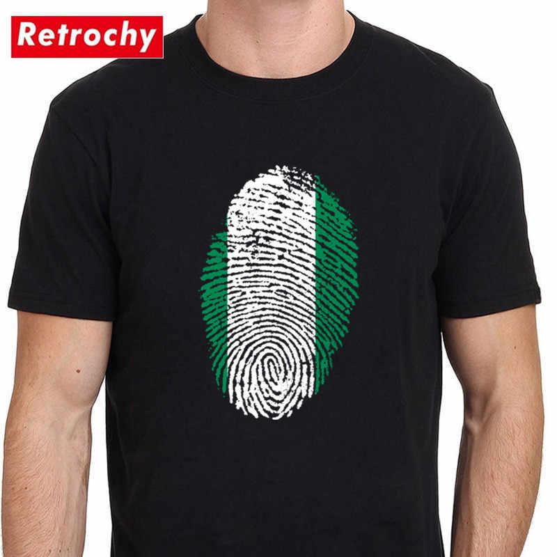 Nigeria Bandiera di Impronte Digitali T Camicette di Modo Di Compleanno Festa di Famiglia Maglietta Unisex Casual Giornata Nazionale T-Camicette Senpai Kanji Top magliette