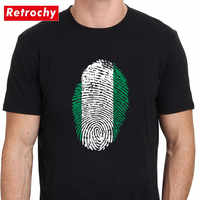 Nigeria Flag Fingerprint T Shirts Fashion Birthday Family Party Tshirt Unisex Casual National Day T-Shirts Senpai Kanji Top Tees