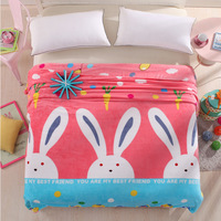 Free Shipping Cartoon Blankets Hello Kitty Lovely Rabbit For Adult Kids Blanket Throw On Bed Sofa