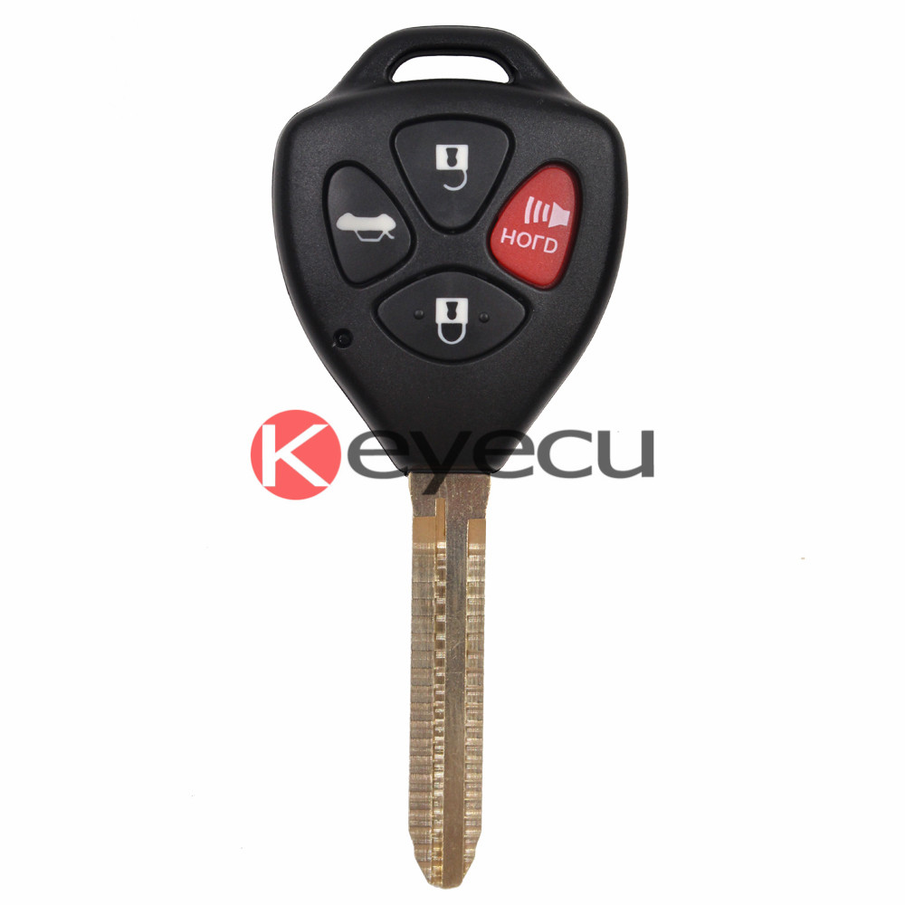 New keyless entry uncut ignition remote car key fob 314 3mhz g chip fcc hyq12bby for toyota camry 2007 2010