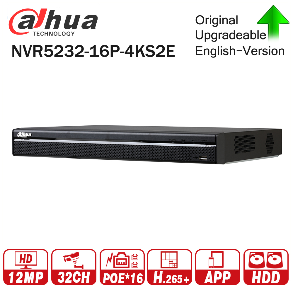 Dahua Pro 32CH NVR NVR5232-16P-4KS2E with 16CH PoE Port support Two way Talk e-POE 800M MAX Network Video Recorder for System dahua network video recoder nvr4208 8p hds2 nvr4216 16p hds2 8 16ch nvr support onvif poe nvr recorder for poe camera