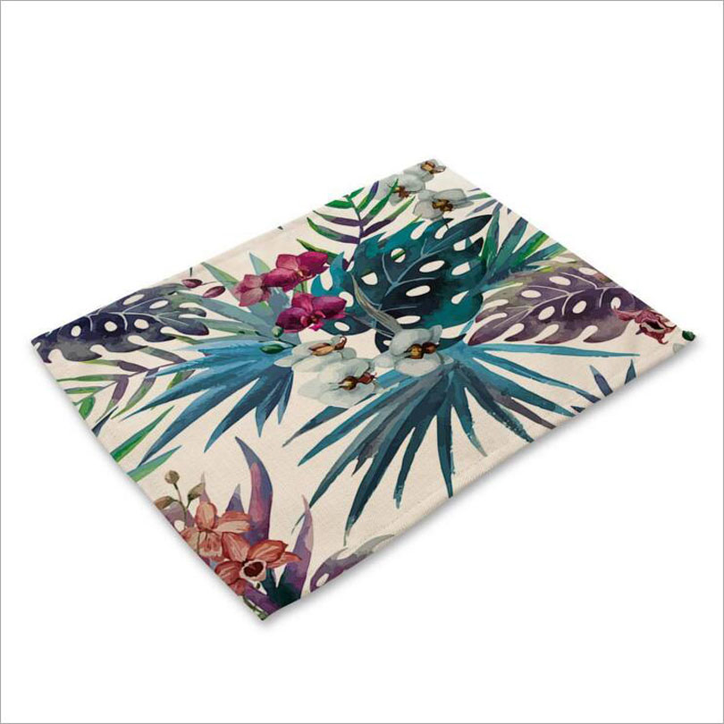 Flowers Placemat Fabric Coaster Table Mat Kitchen Minorshop