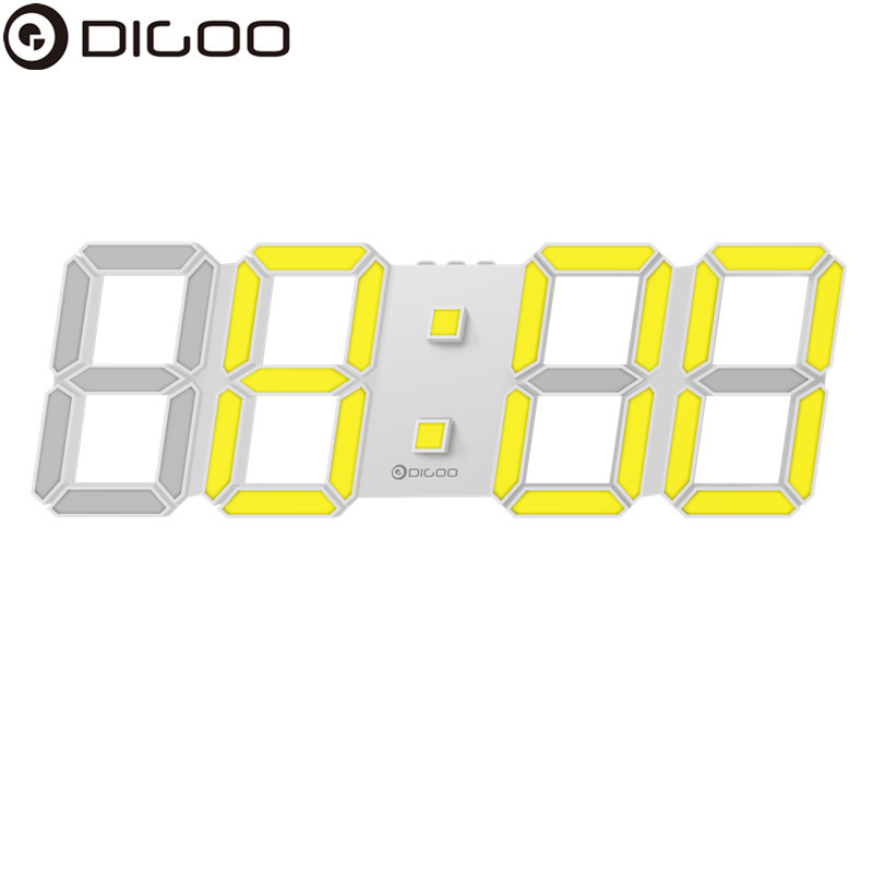 Digoo DC-K4 Modern Wall Clock Large 3D LED Digital LED Table Clock Watches Display Clock Mechanism Alarm Snooze Desk Alarm Clock 3d diy wall clock large table clock led digital automatic sensor light jumbo wall clock huge screen display white
