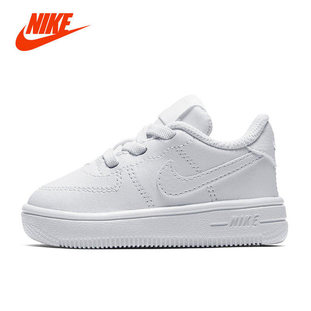 Original Official Nike AIR FORCE 1 '18 (TD) Boy Kids Skateboarding Shoe Girl