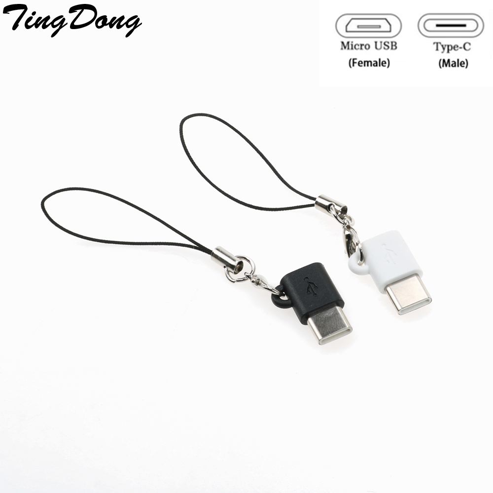 TingDong Micro USB To Type C Converter  Type-c Cable Adapter Fast Charger For Samsung Galaxy S8/S9 S 8 Plus/ Note8 Note9 4.8
