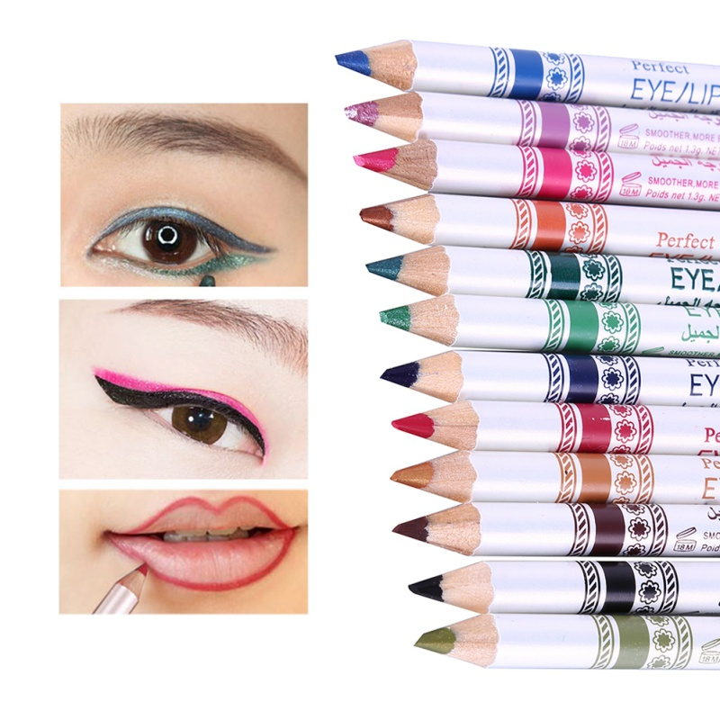 12pcs/Set Eyes Makeup Eyeshadow Eyeliner Pen Set Easy To Wear Waterproof Shimmer Eye Makeup Pencil Makeup Cosmetic Xgrj