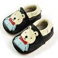 2017 venda quente do bebê berço shoes urso dos desenhos animados feitos à mão de qualidade confortável macio sapato frete grátis bebê primeiro sapato de qualidade