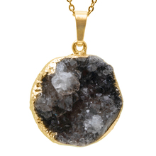 1PC Natural Druzy Crystal Pendant Gold Edge Circle Crystal Opal Pendant Chakra Natural Stone Pendants For Jewelry Making цена