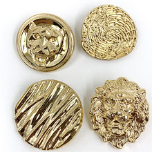 22mm 25mm 10pcs/lot Lion head metal button gold sweater coat decoration shirt buttons accessories DIY JS-0075(China)