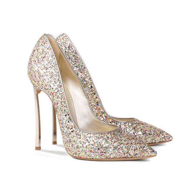 6be4b5b8b452 Aidocrystal Sparkle High Heels Women Pumps Glitter High Heel Shoes Woman  Sexy Wedding Party Shoes For Lady