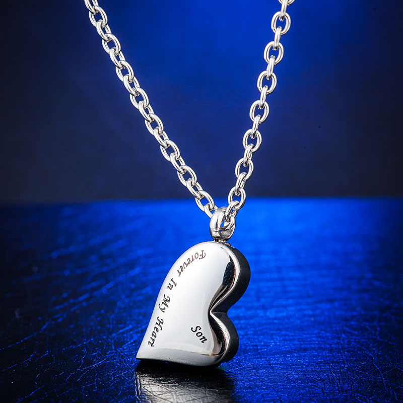 316L Stainless Steel Heart Necklace Memorial Cremation Urn Necklace Locket Pendant Bone Ash Jewelry For Men Women Pendant N-160 ожерелье bride makeup frontlet