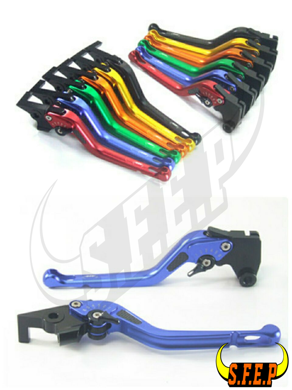 3D Long CNC Adjustable Motorcycle Brake and Clutch Levers with Carbon Fiber Inlay For Triumph SPEED TRIPLE 2008-2010