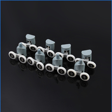 Double shower door roller wheel runner/pulleys/rollers/wheels bearing OD: 19mm/20mm/23mm/25mm/27mm Zinc Alloy