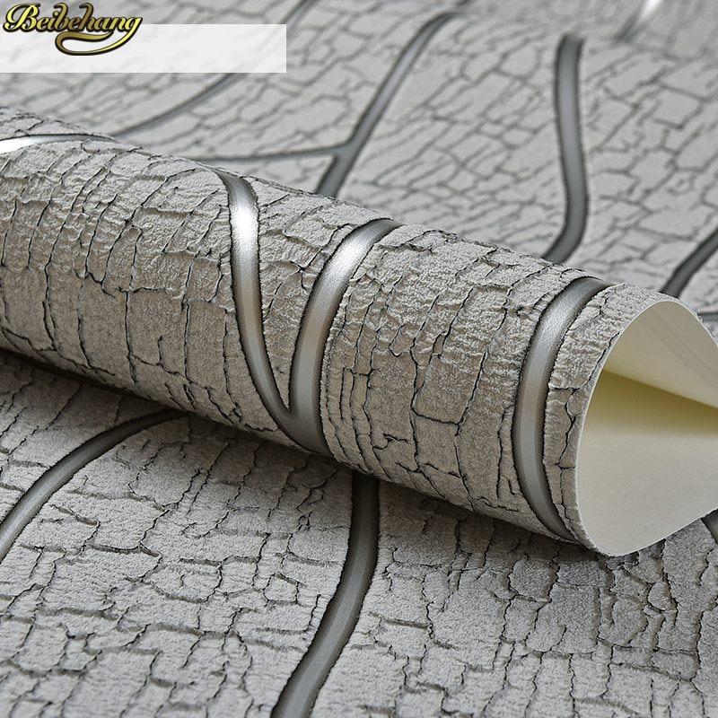 beibehang 3d curvo listrado alivio papel de parede rolo de papel de parede europa moderna sala