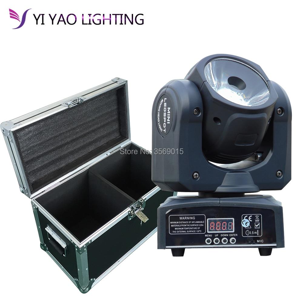 Flight Case 2 pcs/lot Chaud d'éclairage d'étape Mini LED 60 w de Tache de Tête Mobile RGBW DJ D'étape de Disco D'effet de Partie éclairage
