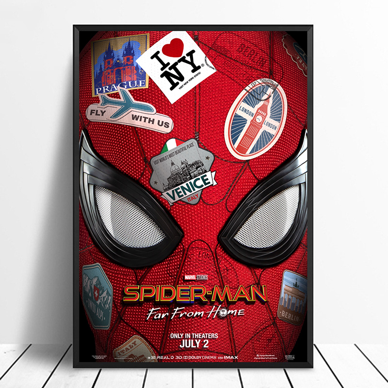 Spider-Man: Far From Home (2019) Avengers: Endgame iron ManMovie Poster Home Decor Wall Decor Wall Art Canvas Print-GJ190429A4