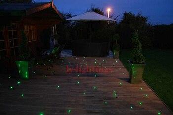 Çift çıkış Fiber Optik ışık Kiti Dekorasyon Düğün Odası Gece Lambası 500 Yıldız Tavan/duvar Lambası Kablosuz Kontrol Renkli Değişim