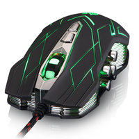 3500DPI 10 Buttons JS X9 II 9D USB Optical Ergonomic LED Wired Gaming Mouse Gamer Red