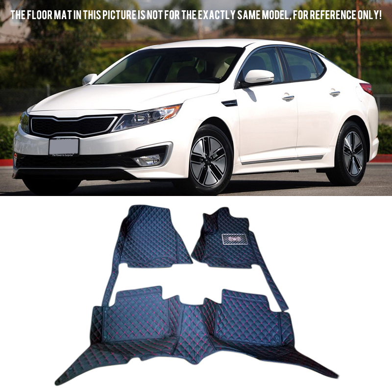 for Kia Optima K5 2010 2011 2012 2013 2014 2015 Accessories Interior Car Floor Mats Carpets Pad 1SET free shipping leather car floor mat carpet rug for kia k5 optima 3rd generation 2010 2011 2012 2013 2014 2015 2016