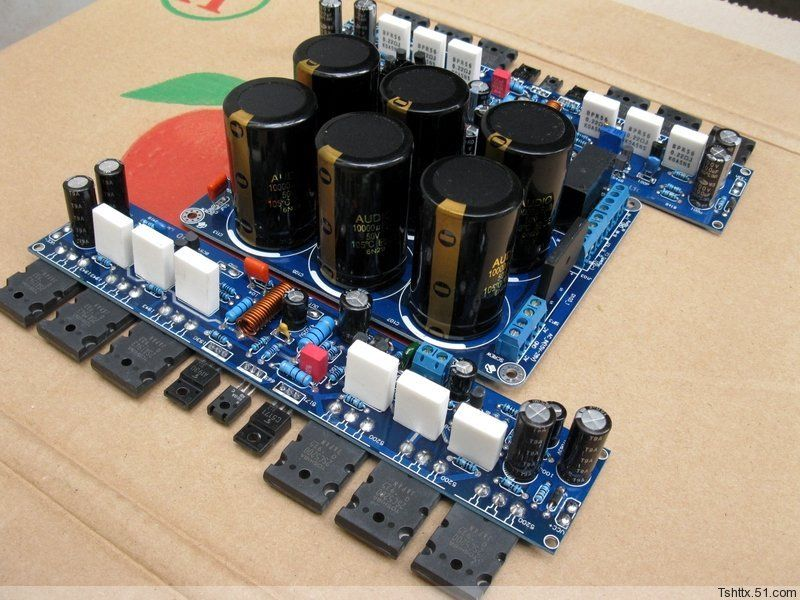 ФОТО L10 Class A amplifier 50W2 sheet with protection + power supply board