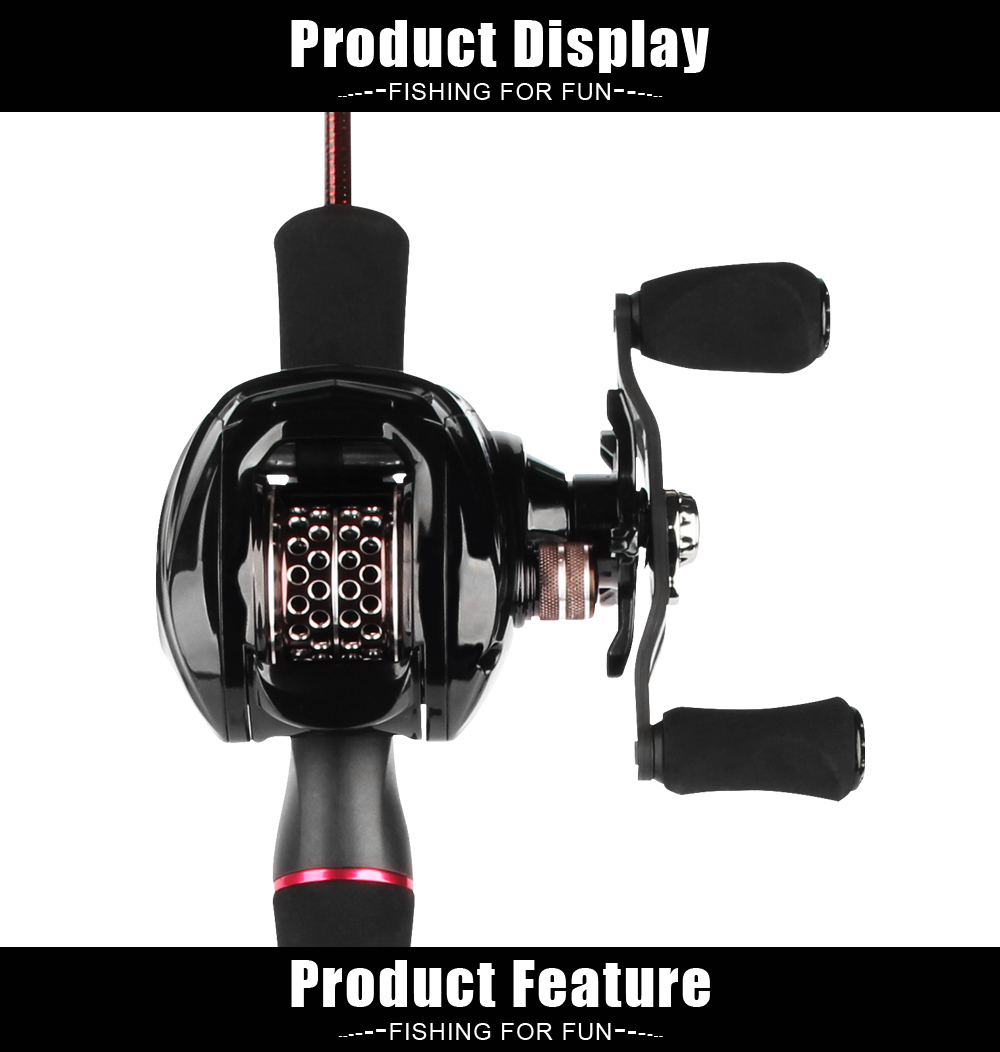 Spinpoler Baitcasting Fishing Combo, Includes Rod & Reel, Lightweight 1.8m Trout Rod, 6.31 Baitcast Reel, Free Canvas Bag  (1)
