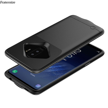 S9 chargeur de batterie étui pour samsung S8 S9 Plus mince couverture de charge de batterie portative externe Ultra mince chargeur de sauvegarde cadre en aluminium