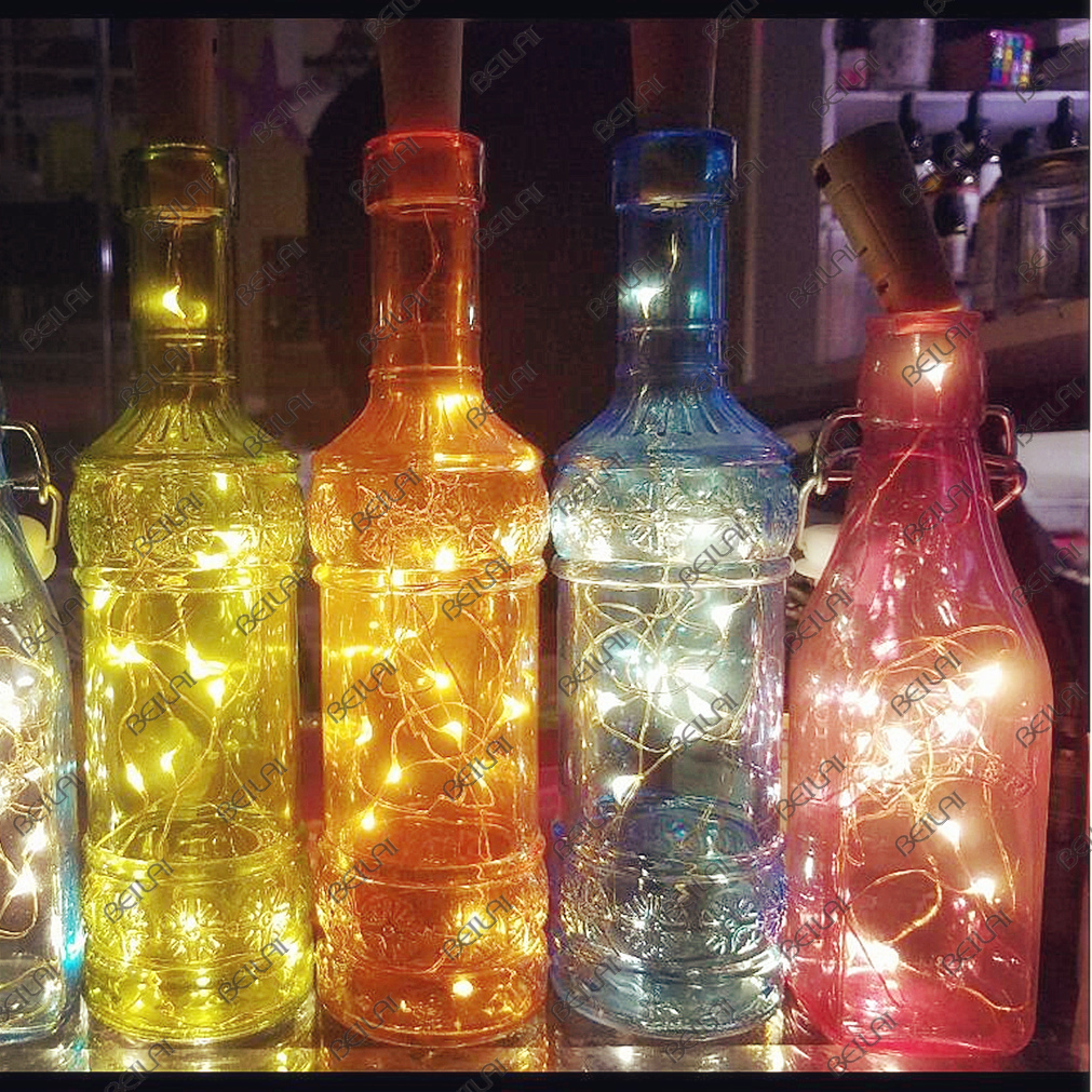 Wine Bottle Light Cork DIY Garland LED String Lights Christmas Holiday For Party Halloween Wedding Decoracion Battery Powered