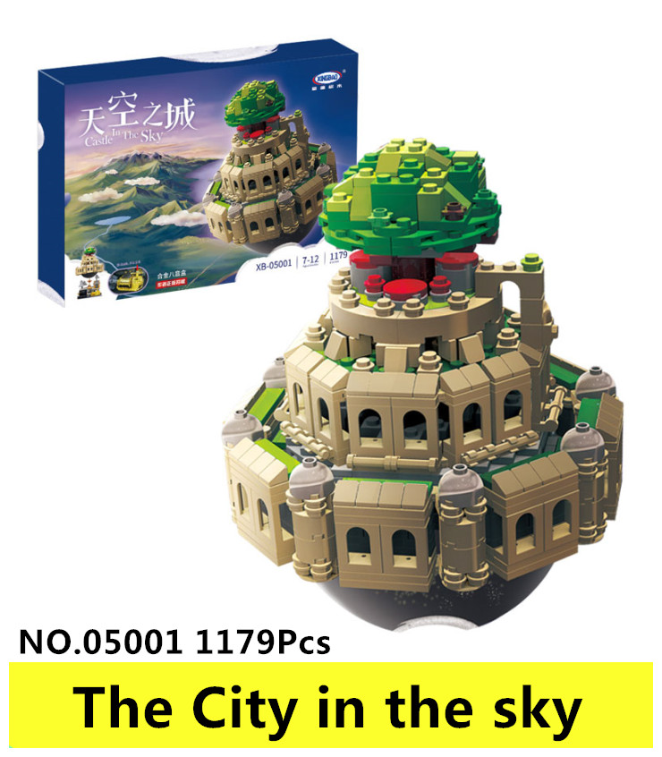 XingBao 05001 1179Pcs Genuine Creative MOC Series The City in The Sky Building Blocks Bricks Educational toys for ChildrenGifts xingbao 05001 1179pcs city in the sky set genuine creative moc series educational building blocks bricks model toys for children