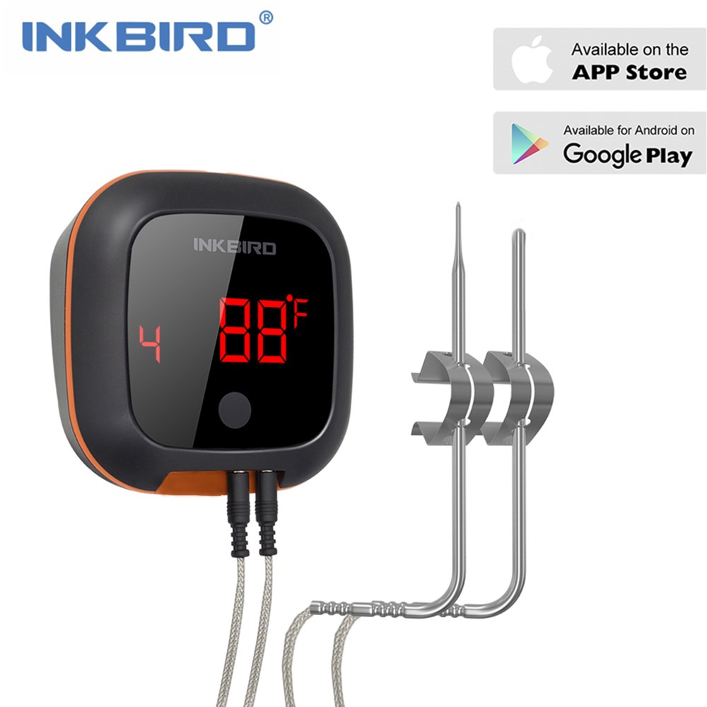 Hot Sale IBT 4XS Digital Wireless Bluetooth Cooking Oven BBQ Grill Smoking Thermometer With Two Probes