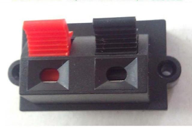Wholesale 500pcs 2pin Push Red And Black Spring Push Type