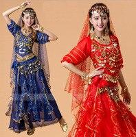 Summer Bellydance Costume Set Women Belly Dance Costumes Set Bollywood Dress Belly Dance Dress 6 Colors