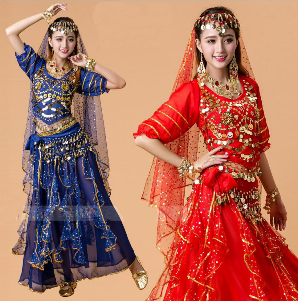 sommer bellydance kostüm set frauen bauchtanz kostüme set bollywood kleid  bauchtanz kleid 6 farben