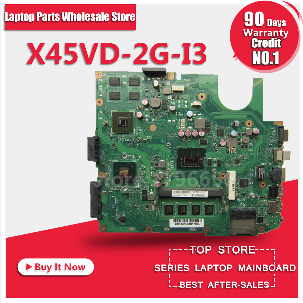 X45VD motherboard For ASUS X45VD-2G-I3 X45V Laptop Mainboard Tested Well hot for asus x551ca laptop motherboard x551ca mainboard rev2 2 1007u 100% tested new motherboard