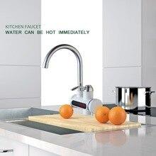 RU Новое мгновенное проточный водонагреватель с цифровой светодиодный Дисплей электрический водонагреватель смеситель Кухня водонагреватель