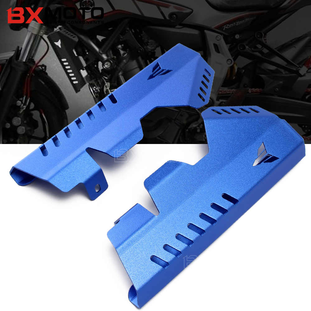 Motorcycle accessories CNC Aluminum Blue Radiator Grille Side Cover Guard Protector For Yamaha MT07 MT-07 FZ07 FZ-07 2013-2017 arashi motorcycle radiator grille protective cover grill guard protector for 2008 2009 2010 2011 honda cbr1000rr cbr 1000 rr