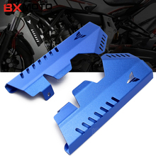 Фотография Motorcycle accessories CNC Aluminum Blue Radiator Grille Side Cover Guard Protector For Yamaha MT07 MT-07 FZ07 FZ-07 2013-2017