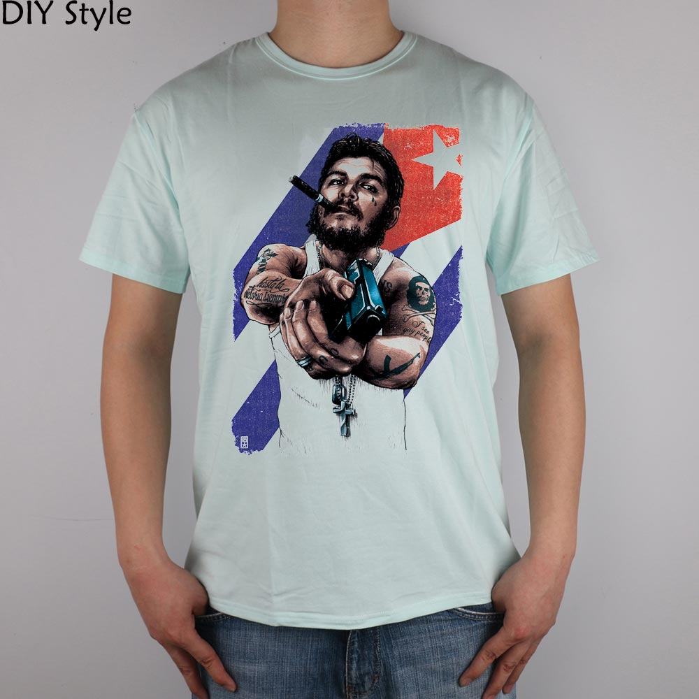Big Sale Che Guevara Gang Gun T Shirt Cotton Lycra Top 7511 Fashion Circuit Board Tshirts Brand Men