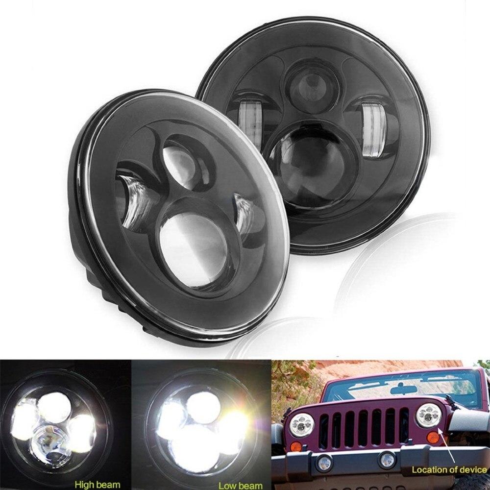 7 светодиодный проектор лампы 40 Вт 7 дюймов фары Daymaker фары для Jeep Вранглер JK, Ландровер Дефендер головные