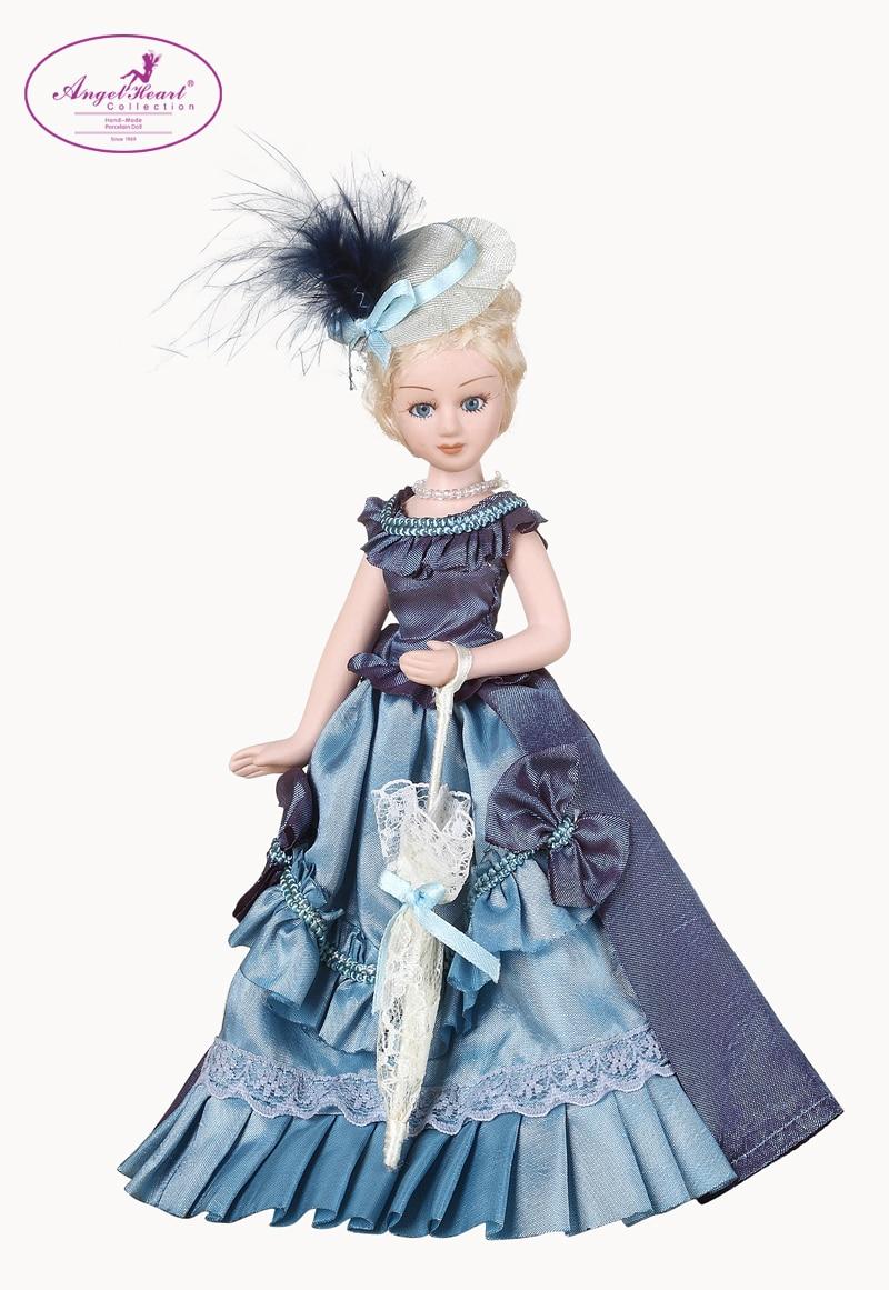 Porcelain Dolls in Blue Dresses
