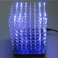 LEORY 8x8X8 512LED Fog Lamp DIY 3D LED Light Cube Kit Diy Circuits Kit With Accessory