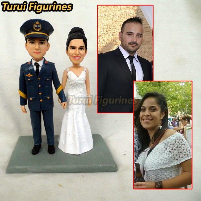 9751678b78d Custom Bobbleheads wedding cake topper Bride   Groom Customized dancing  Wedding Cake Topper by Turui Figurines mini statue