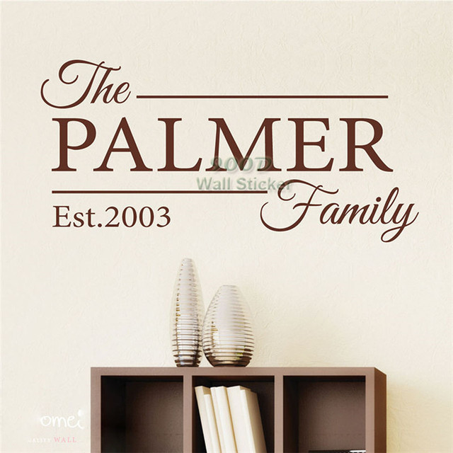 Personalized Family Name Wall Sticker, Home Decoration Quote Wall Decal  ,diy Vinyl Wall Art