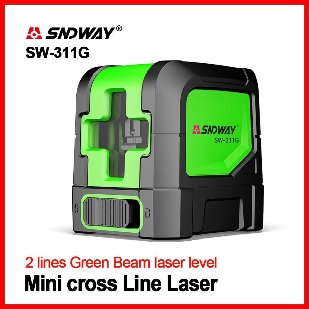 SNDWAY Laser Levels Green Self Leveling Vertical Horizontal Cross Red Line 2 lines Laser Leveler