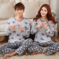 GOPLUS 2016 New Style Couple Pajamas Men and Women Pajamas Sets Fashion Model Cartoon Long Sleeve Pajamas Free Shipping  C2072