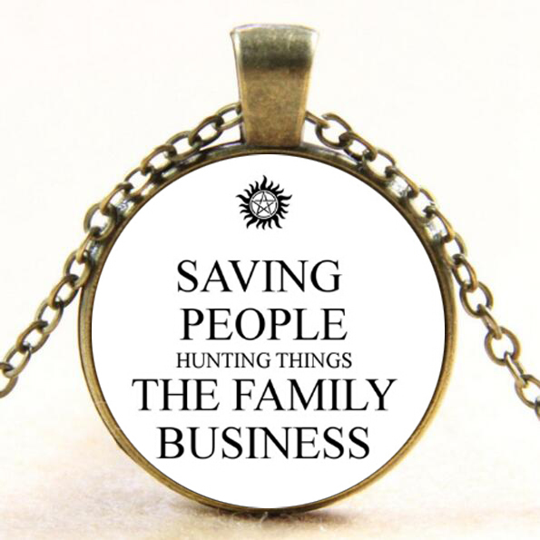 Saving People Hunting Things The Family Business Glass Dome Pendant