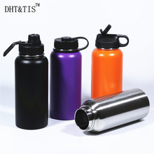 Vacuum Flask Cold Insulated drink bottle Water Bottle 32OZ Beer Growler thermos Big Termos cup can you swig it?